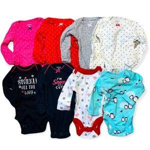 Carter's & Koalababy newborn onesie bundle (8 piece) Holiday Edition